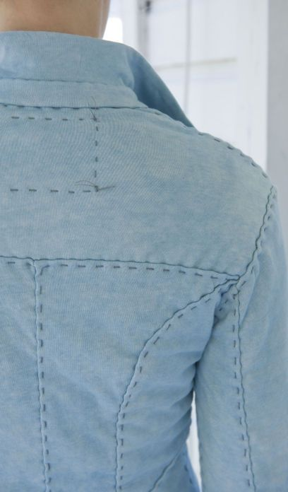 DIY for alabama chanin blazer....might could do with denim?