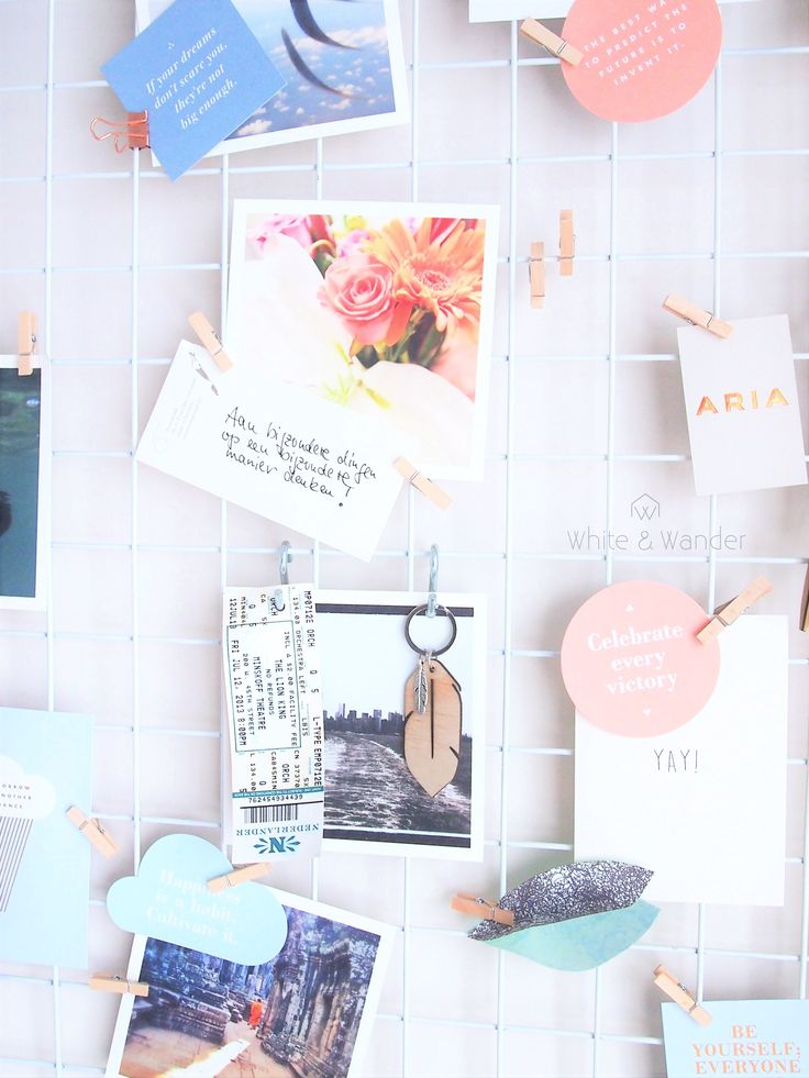 DIY moodboard personalised with photo's and inspirational quotes. Photo by whiteandwander