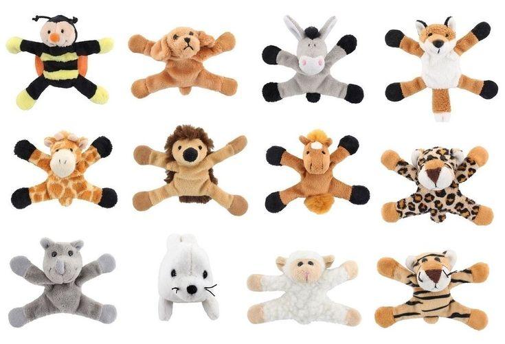 Soft Plush Animal Magnets in 12 designs !FREE UK P&P!