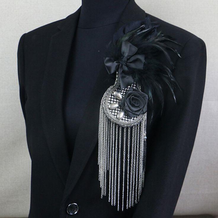2016 мода роскошные перо брошь ювелирных мужчины ретро металлического серебра кисточкой брошь корсаж мужской подарок аксессуары купить на AliExpress