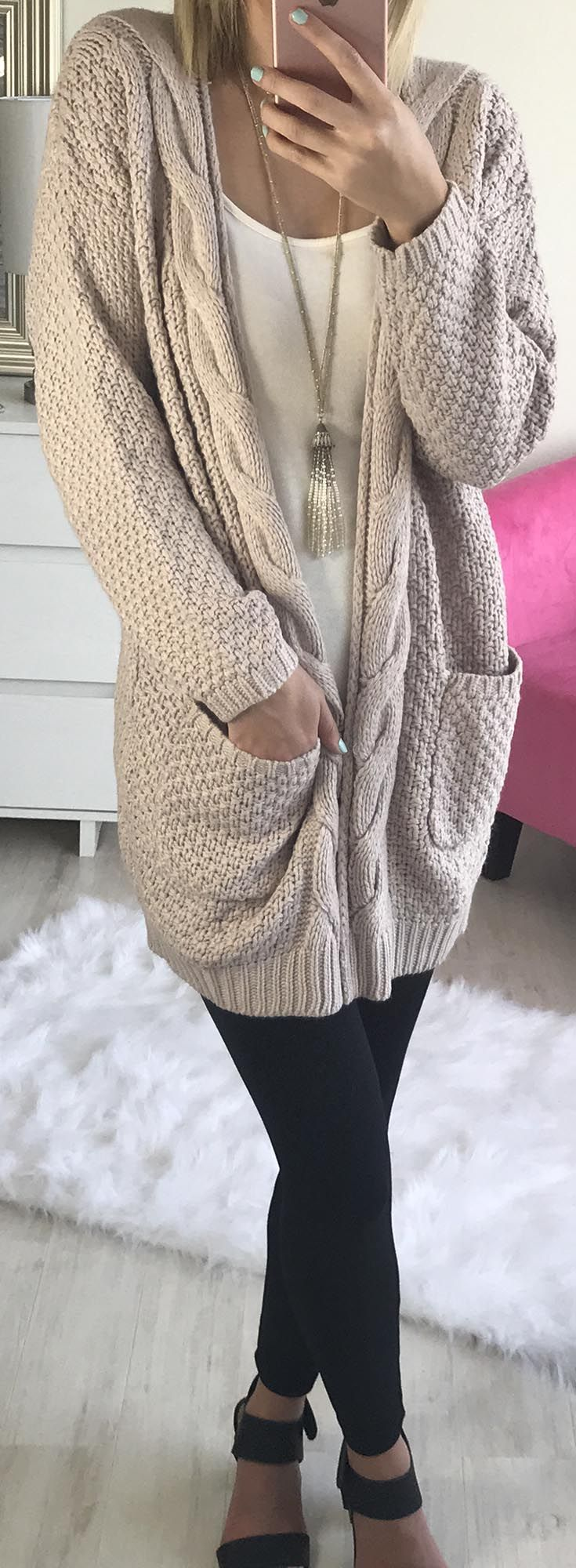 Chunky Cardi Fall Outfit ideas