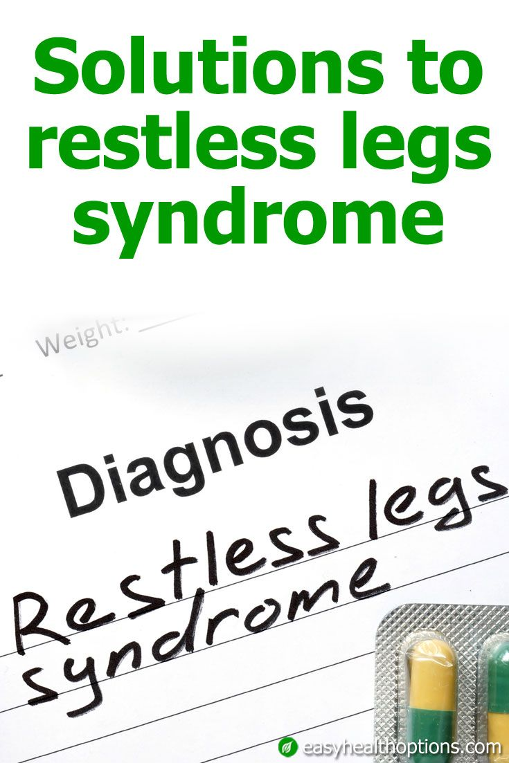 restless legs syndrome Find out what restless legs syndrome is, why it's a big concern during pregnancy, and how to cope with rls if you have it when you're pregnant.