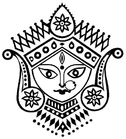 Shri Durga by Idea-smithy. http://ideasmithy.wordpress.com/2007/10/28/pujo/#