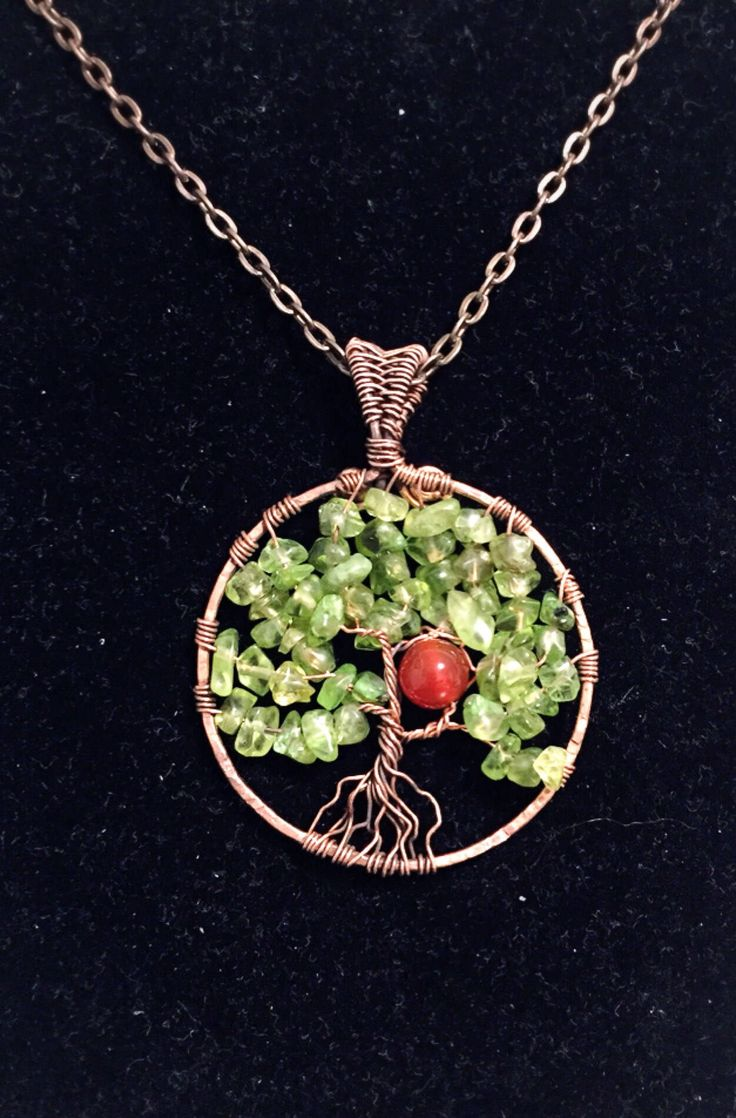 Excited to share the latest addition to my #etsy shop: Tree-of-life Pendant , Peridot Necklace, Copper Wire Wrapped Jewelry Grift