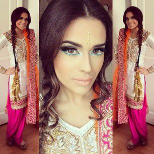 Punjabi suit modelled by Bambi Bains