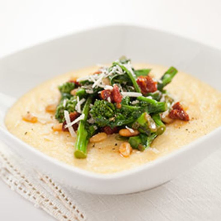 Creamy Parmesan Polenta  For the ultimate creamy texture and deep corn flavor, traditional  polenta requires lengthy cooking and lots of stirring. Could we keep the  creaminess but shortcut the process?