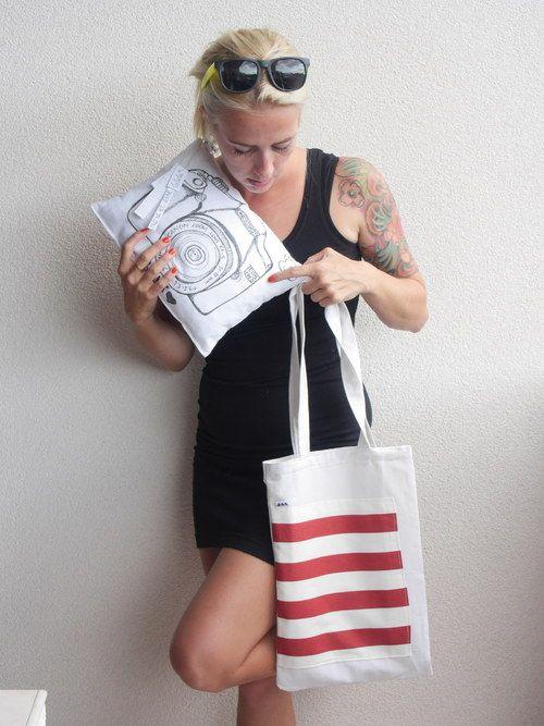 Plátěná taška Sailor handmade, canvas bag, sea