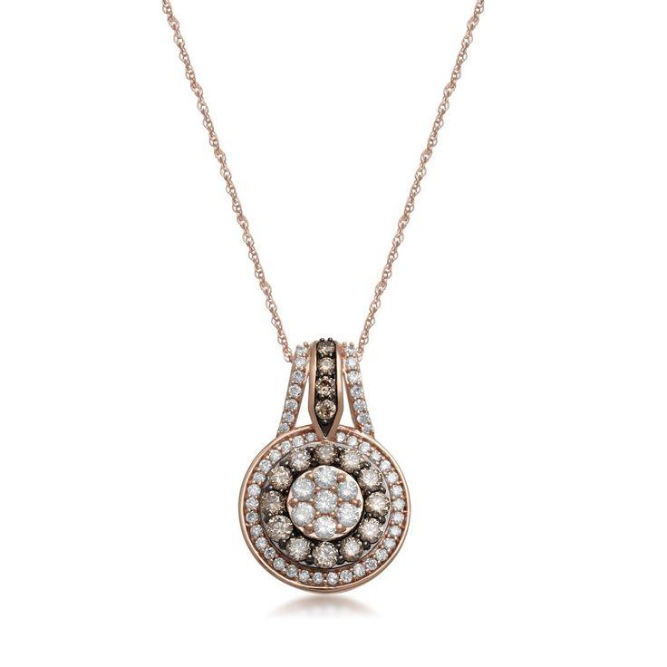 9ct Rose Gold 1.00ct Cognac Diamond Necklace - Gemstones: DiamondBirthstones: AprilNecklaces: Diamond9ctRose Gold1.00ctCognacBrilliant FlowerChannel BaguetteDiamondNecklace