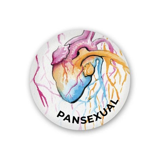Pansexual Heart Button – Our Back Pockets Pride Tattoo, Ace Pride, Pansexual Pride, Queer Art, Lgbt Love, Heart Button, Take My Money, Cute Stickers, Tattoos