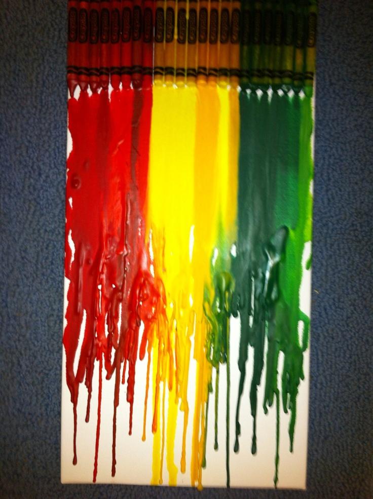 Rasta colors Crayon wax art I made