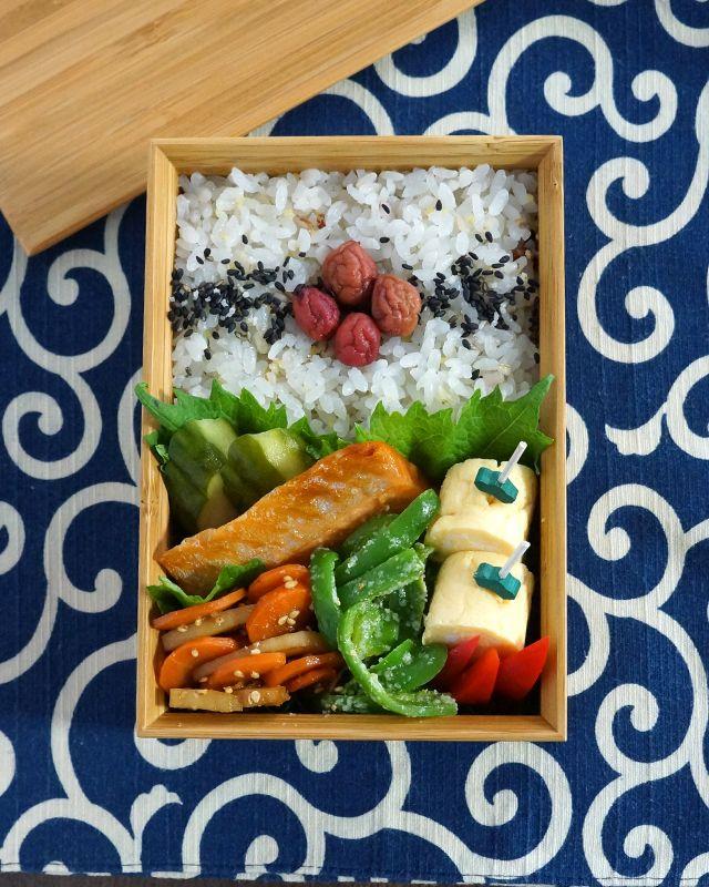 塩鮭弁当 Salmon Bento box