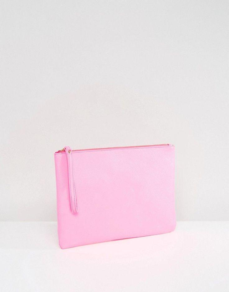 South Beach Pink Clutch Bag - Pink