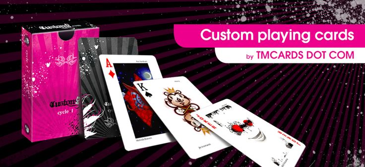 You can make your own custom playing cards from Tmcards Dot Com.