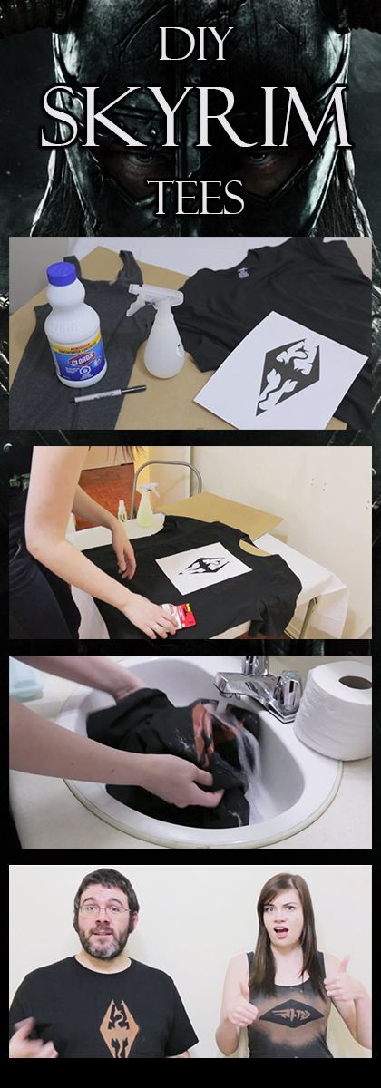 CLICK TO WATCH: DIY a Skyrim tee. Would do this with all my favorite games