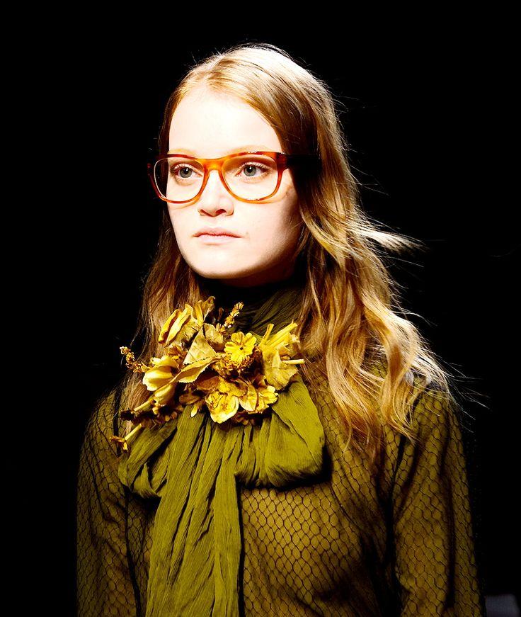 #Gucci , #fashionshow #a/w 15/16 #MFW #glasses #green new color #fashiontrends #CollezioniDonna
