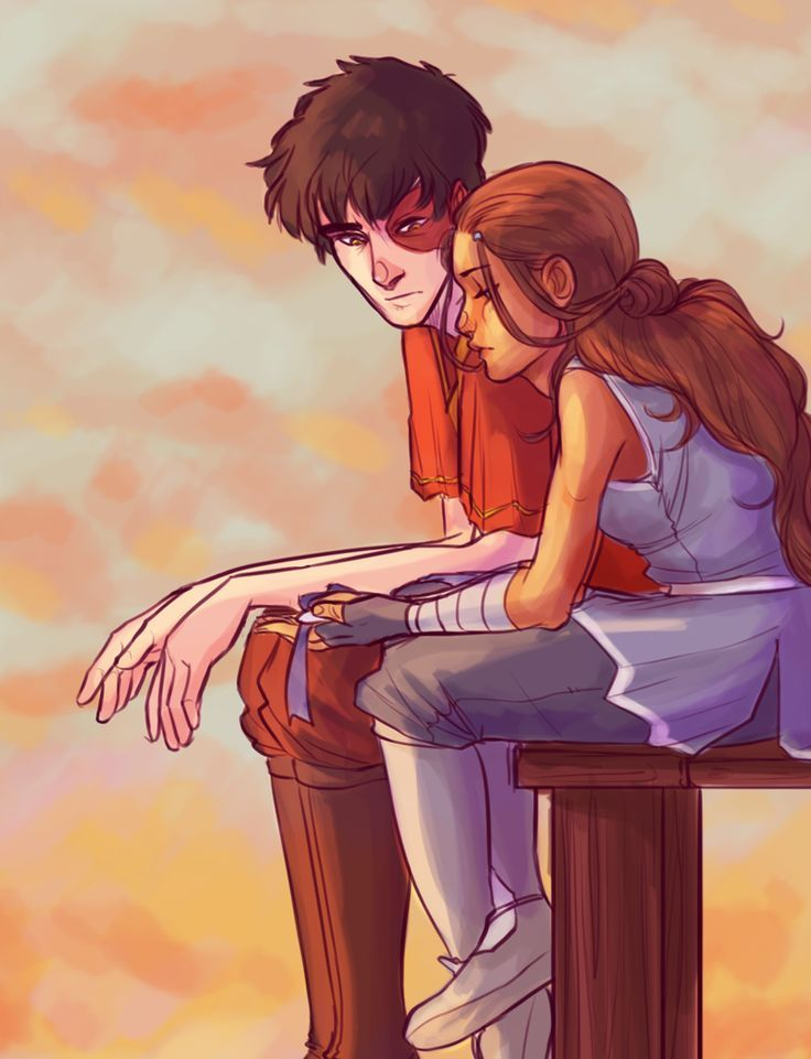 Zuko and Katara. ✨✨ MY. FAVOURITE. FANART. EVER. ✨✨
