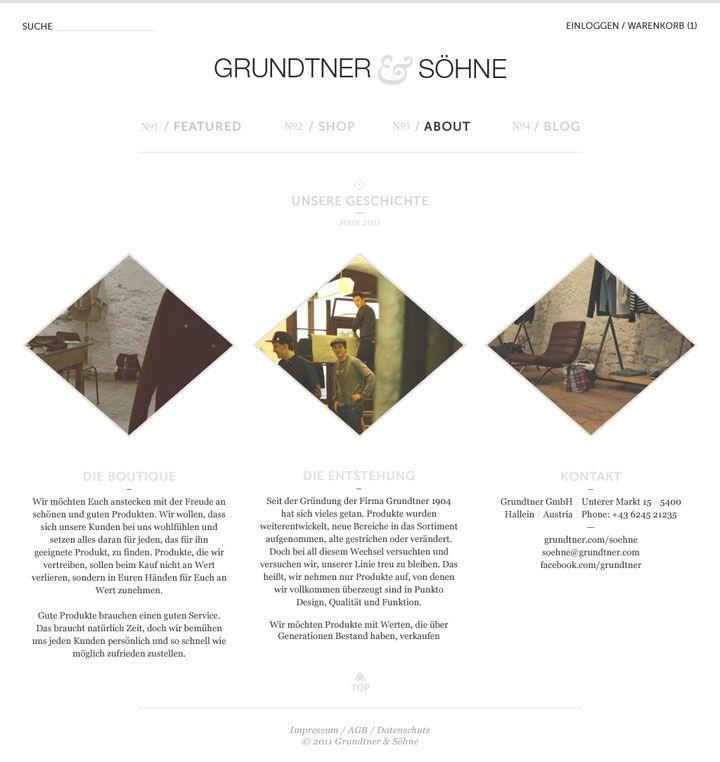 Website design concepts.