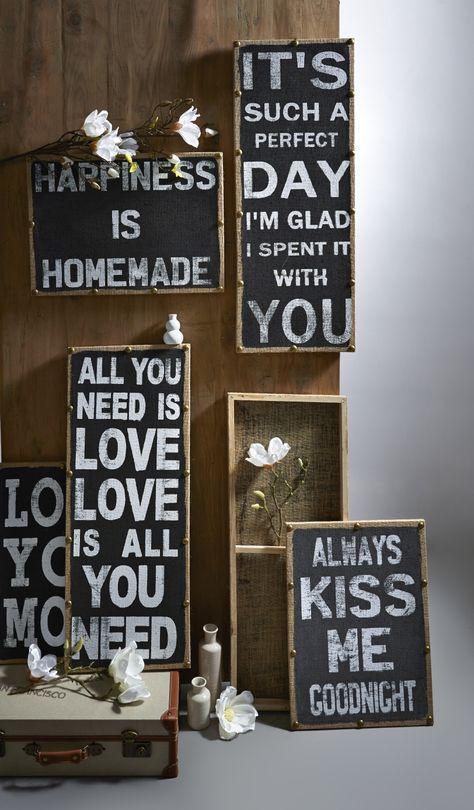 decoratie borden met tekst Pronto wonen
