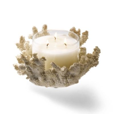 Coral candle holder beach house decor pinterest for Bathroom decor with candles