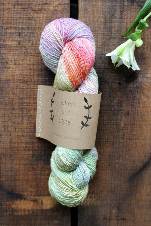 """Lichen and Lace Wildflower"" by Never Not Knitting"