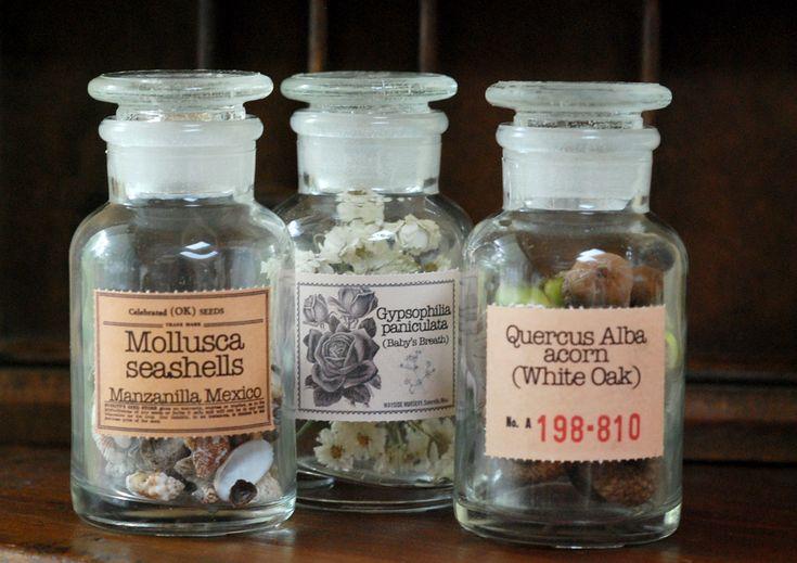 Seasonal Memories in a Bottle - custom labels applied with milk