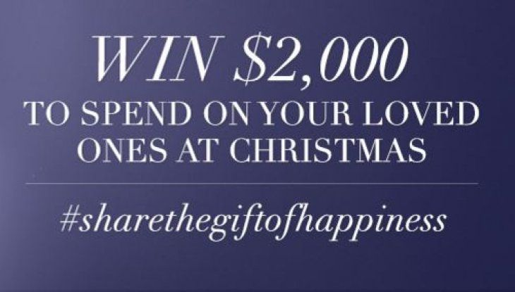 Need some extra cash for your Christmas presents? Share a picture about what makes you happy for your chance to win $2,000. Find out more.