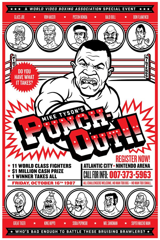 Punch-out-poster