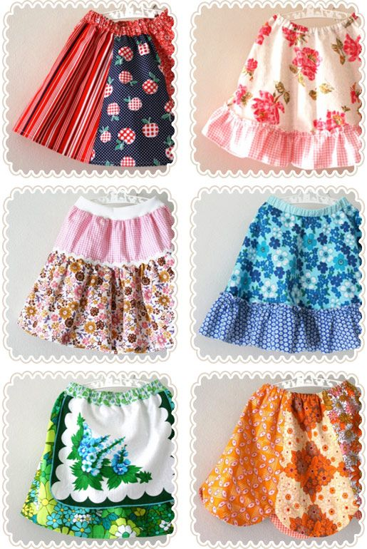 lovely skirts for little girls, I really need to make some soon!