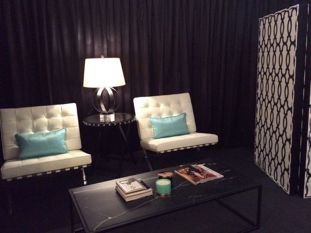SET STYLING FOR CAIRNS CENTRAL'S RESIDENT STYLIST PROMOTION 'SUMMER OF ME' WITH PIP MILLER AND PIP ADDISON.  GLOBE WEST REPLICA BARCELONA CHAIR, BLOOMINGDALES LIGHTING, BLOOMINGDALES STUDDED SIDE TABLE, WARWICK 'GRACIA' CUSTOM SCREEN.