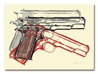 INSIDE THE ROCK POSTER FRAME BLOG: Rene Gagnon 3 American Guns Print On Sale