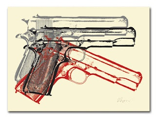 INSIDE THE ROCK POSTER FRAME BLOG: Rene Gagnon 3 American Guns Print On Sale