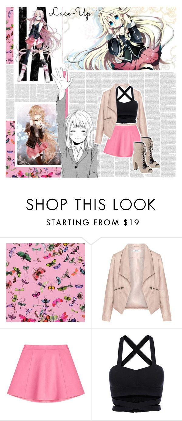 """Casual Cosplay: IA (Vocaloid)"" by phaedra-solaris ❤ liked on Polyvore featuring Christian Lacroix, Zizzi, RED Valentino, WithChic and Kendall + Kylie"
