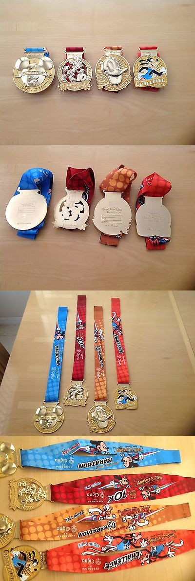 Other Fan Apparel and Souvenirs 465: 2016 Walt Disney World Marathon Medals Set (4) Medals Mickey Minnie Goofy Donald -> BUY IT NOW ONLY: $185 on eBay!