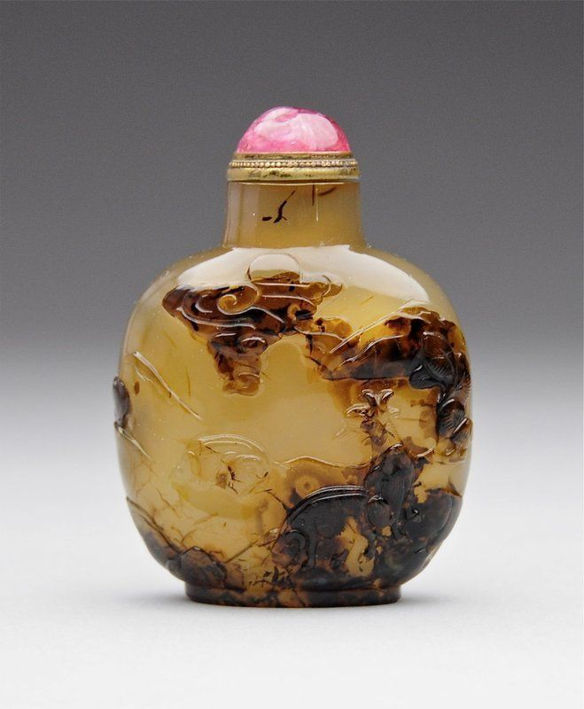 An Extraordinary Carved Agate Snuff Bottle