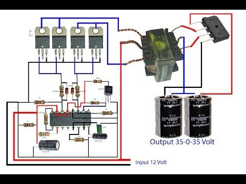 how to make inverter for amplifier  it so easy to make