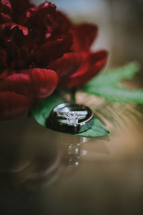A Wedding Planners Glamorous Cocktail Style Brooklyn Wedding Engagement Ring And Wedding Band