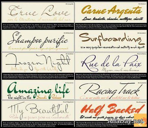 Эксклюзивные рукописные шрифты для Photoshop