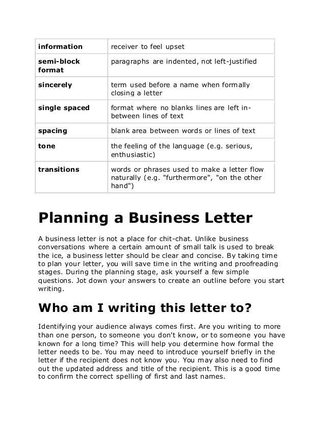 Melhores Ideias De Business Letter Format Example No