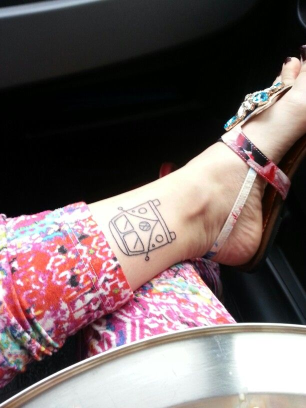 Hippie Tattoo Ink VW T1 Van Gypsy