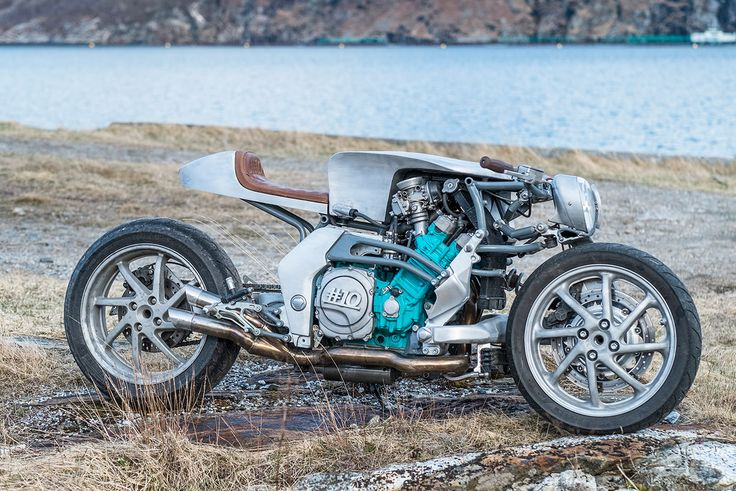 Roel Scheffers' incredible custom Yamaha GTS 1000, built in a remote village next to a Norwegian fjord. How cool is that?