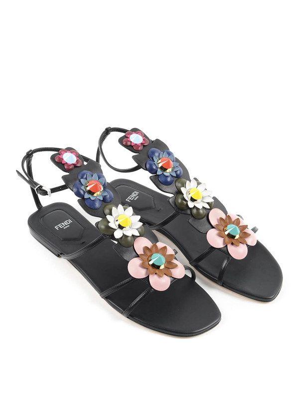 f7313bcc6d64cd Fendi - Sandal with flowers