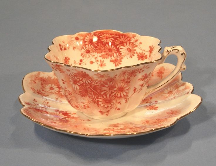 -foley victorian bone china & 119 best Rust colored china images on Pinterest | Porcelain Rust ...
