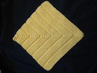 Technique: decreasing miter  http://www.ravelry.com/patterns/library/mitered-hybrid-dishcloth