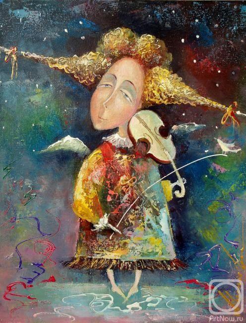 Моисеева Лиана. Ангел и птичка