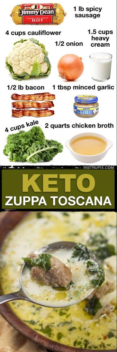 Zuppa Toscana baja en carbohidratos (7 recetas fáciles de sopa de keto)  – Keto keto keto