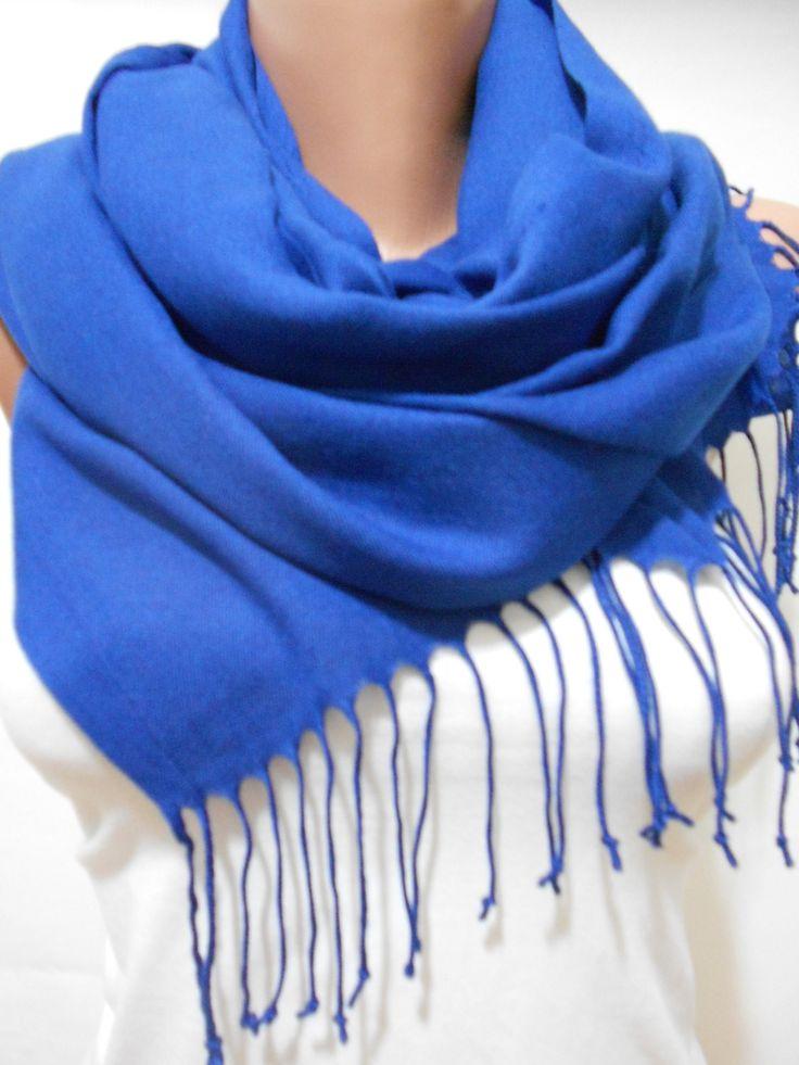 Cobalt Blue Scarf Shawl Monaco Blue Cowl Scarf Blue Wedding Scarf www.scarfclub.net