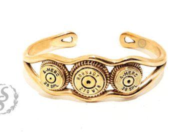 Real Bullet Bracelet, Leather Bracelet, Bullet Jewelry, Men's Bullet Bracelet…