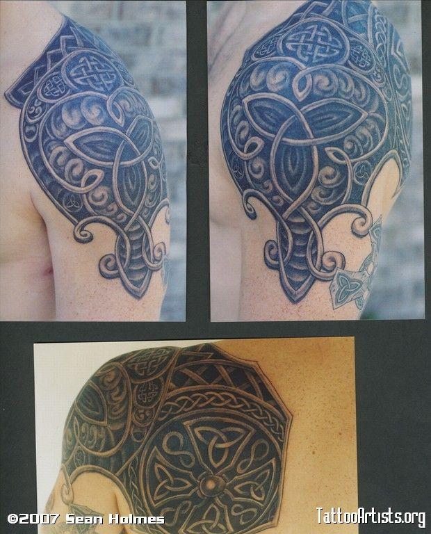 celtic shoulder cap celtic pinterest armors armour and tattoo sleeves. Black Bedroom Furniture Sets. Home Design Ideas