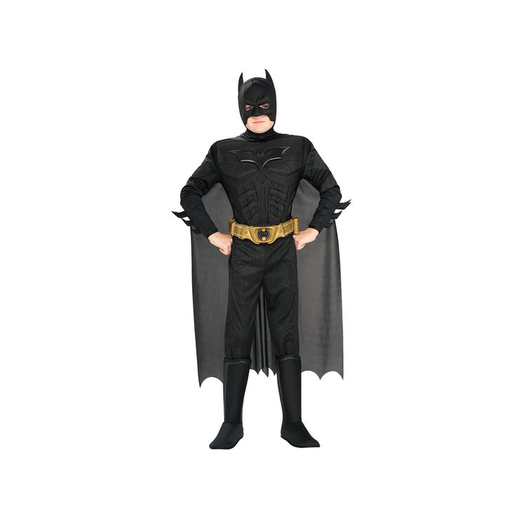 Batman: The Dark Knight Rises Deluxe Muscle Costume - Toddler, Boy's, Black