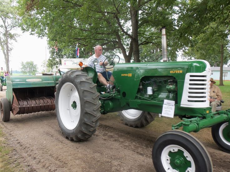 880 Ford Tractors : Super with t hay baler oliver tractors